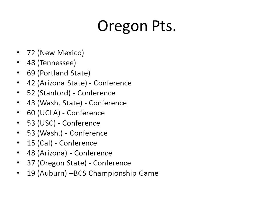 Oregon Pts.