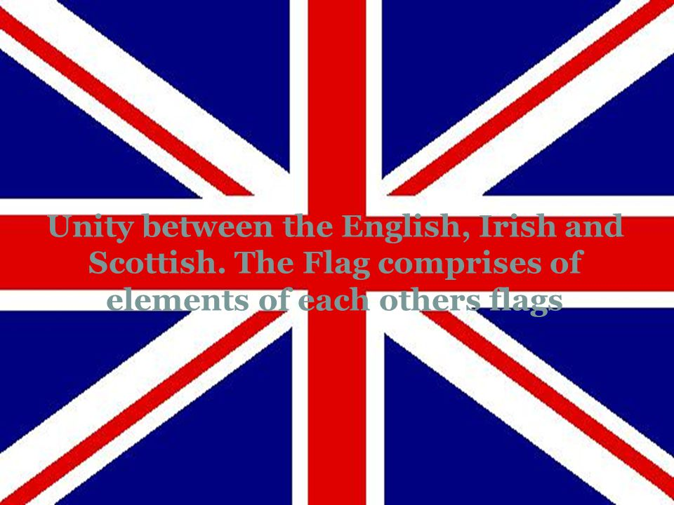 Unity between the English, Irish and Scottish. The Flag comprises of elements of each others flags