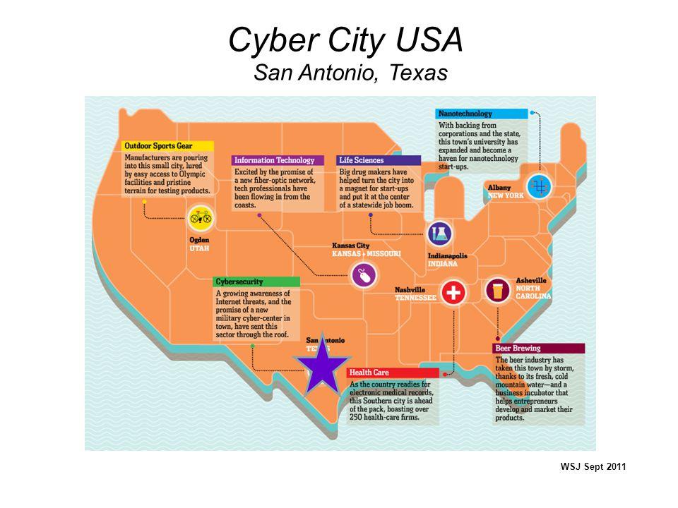 Cyber City USA San Antonio, Texas WSJ Sept 2011