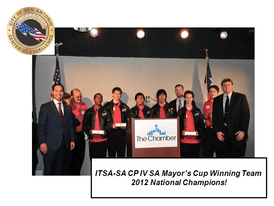 16 ITSA-SA CP IV SA Mayor's Cup Winning Team 2012 National Champions!