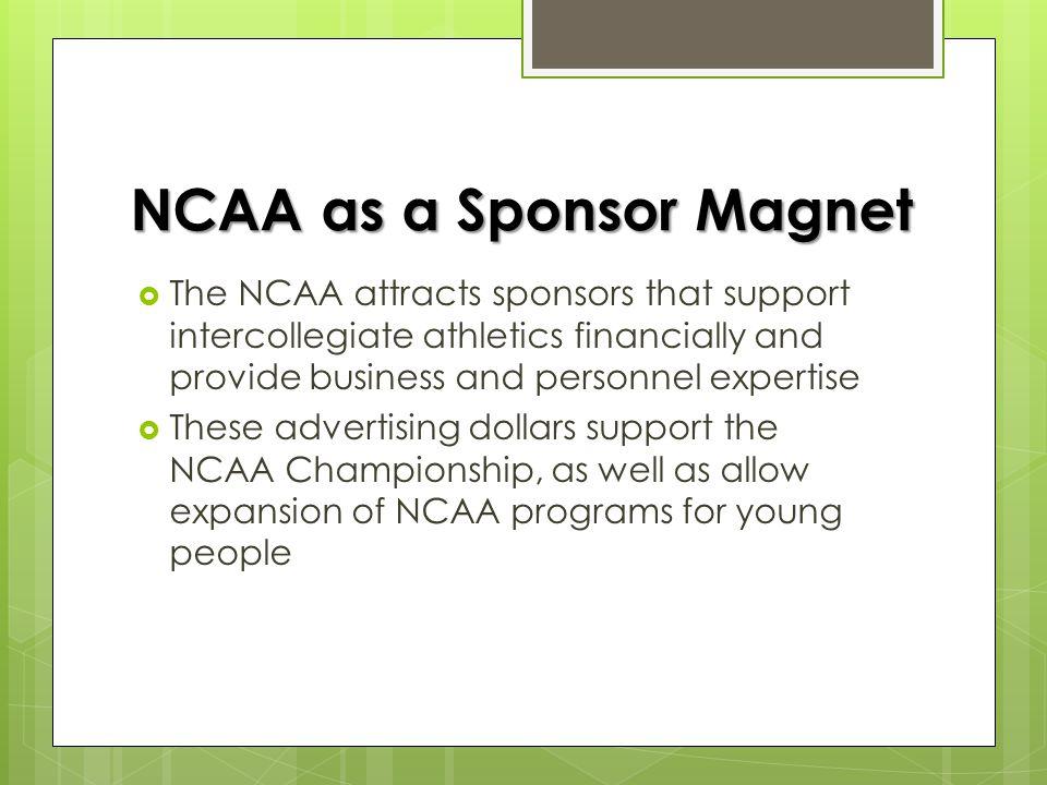 NCAA Revenue 2010 – 2011NCAA Revenues$845.9 Million