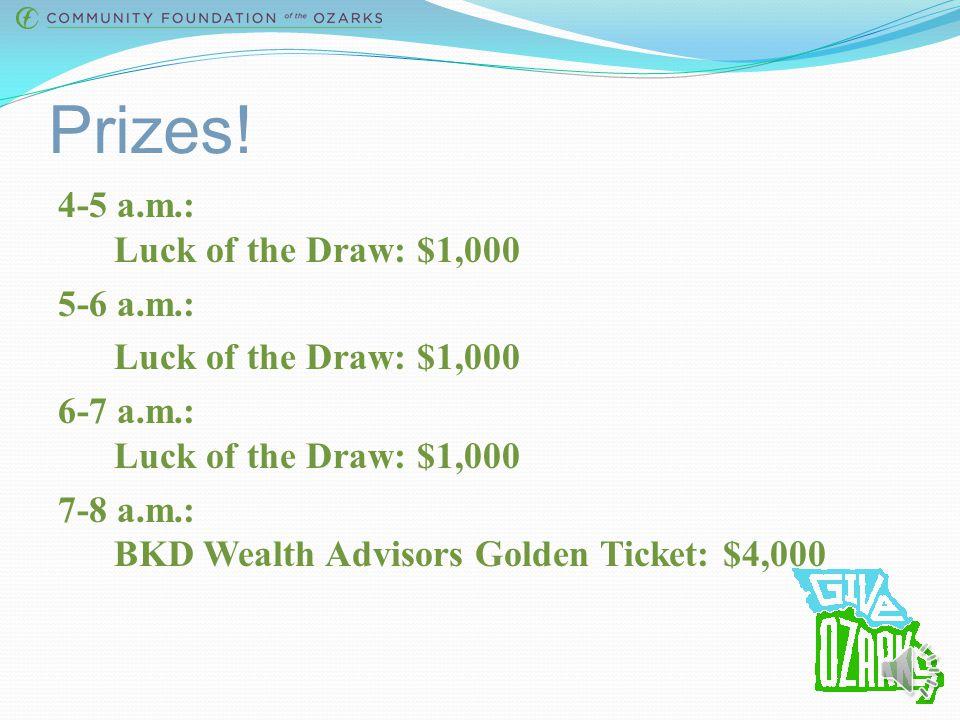 Prizes.