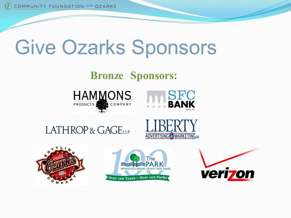 Give Ozarks Sponsors Silver Sponsors :