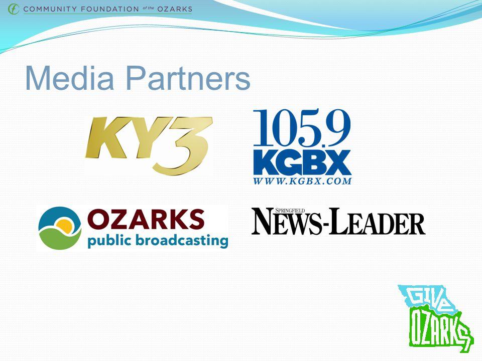 Give Ozarks Sponsors Bronze Sponsors: