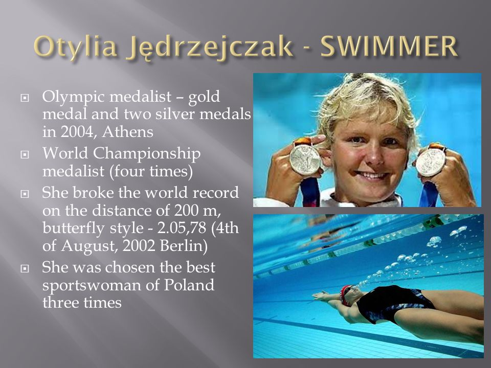  Multiple title-holder and Champion of Poland  Multiple European Champion (Athens, 2004, Beijing, 2008 and London, 2012).