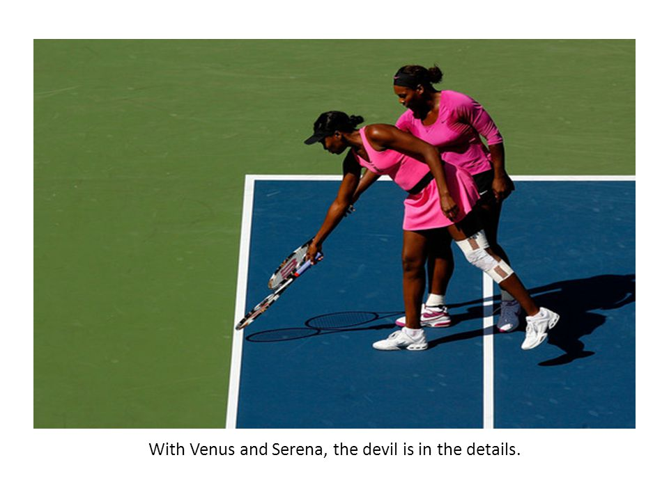 Venus plays a forehand.