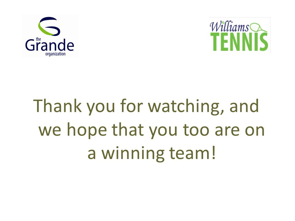 Thank you for watching, and we hope that you too are on a winning team!