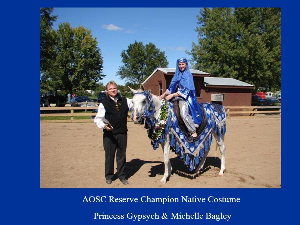 AOSC Reserve Champion Native Costume Princess Gypsych & Michelle Bagley