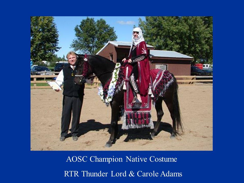 AOSC Champion Native Costume RTR Thunder Lord & Carole Adams