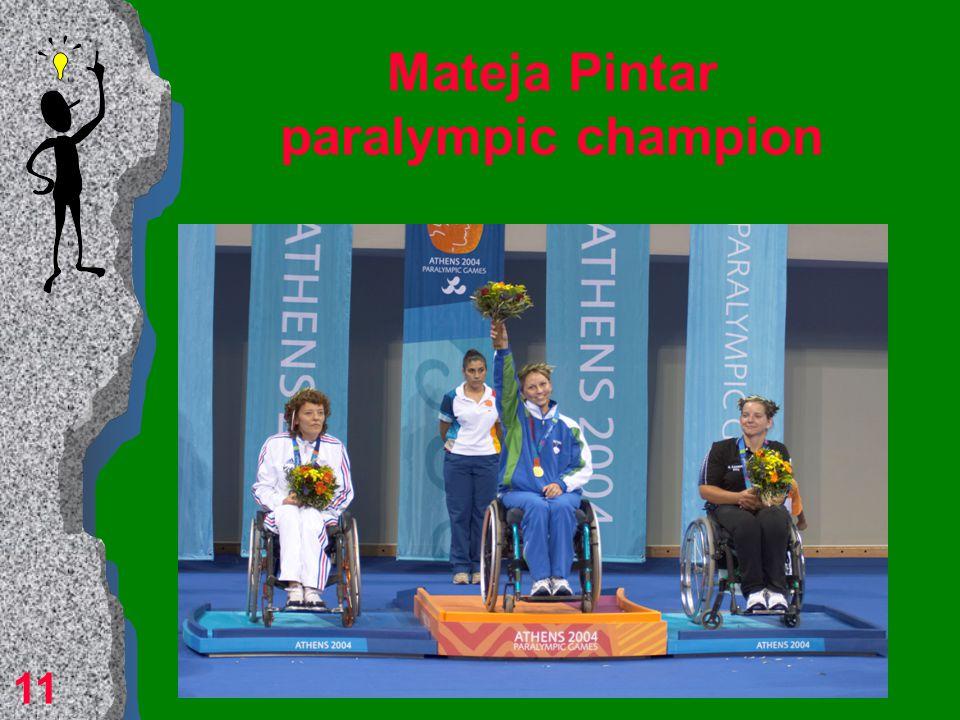 Mateja Pintar Meeting Andreja Dolinar meant a serious beginning of Mateja's sport carrier. 10