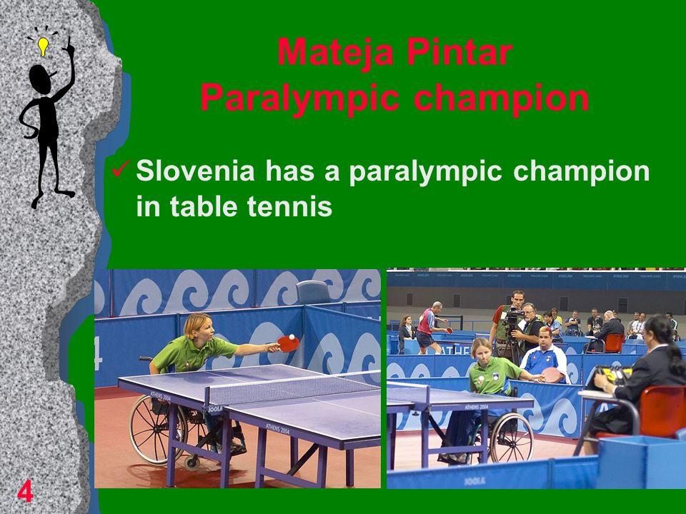 Mateja Pintar Paralympic champion Slovenia has a paralympic champion in table tennis 4
