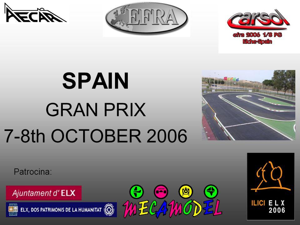 Patrocina: SPAIN GRAN PRIX 7-8th OCTOBER 2006