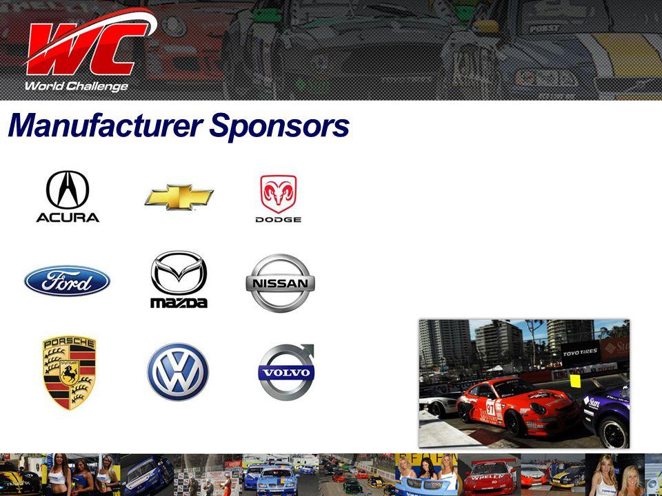 Manufacturer Sponsors