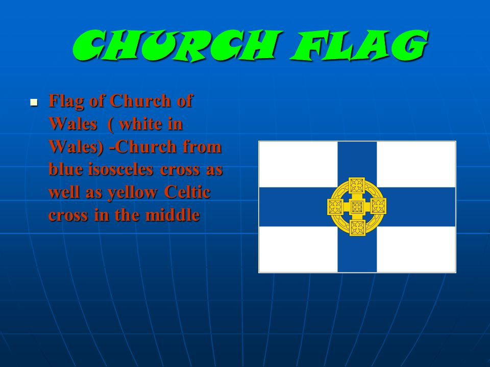 DIFFERENT FLAG Unofficially flag of Wales so- called cross Owietego of David (Dewisant, St.