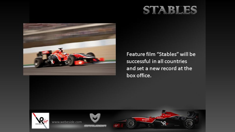 """Feature film """"Stables"""" will be successful in all countries and set a new record at the box office."""