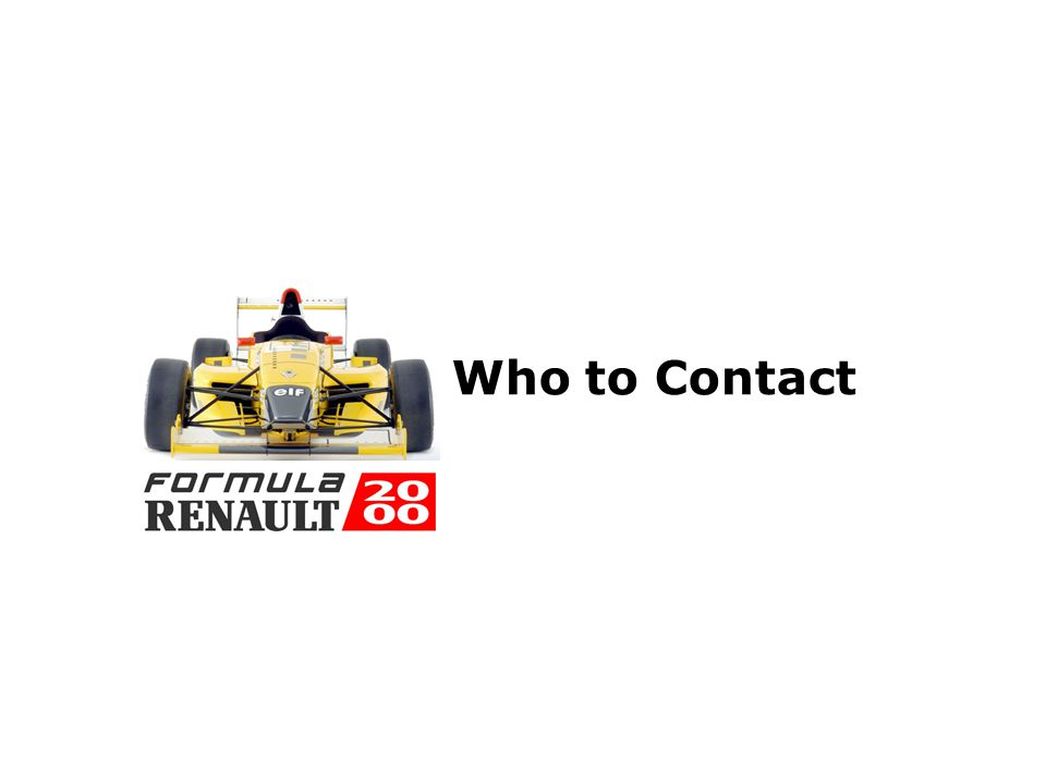 Formula 2000 Nordic Cup Partners Renault Sport Technologies, France www.renault-sport.com BusinessWise A/S, Copenhagen Relations marketing agency - sp