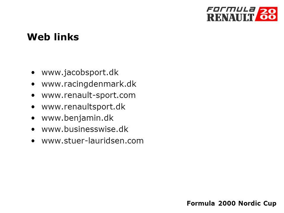 Formula 2000 Nordic Cup Contact info Stuer-Lauridsen ApS Sagasvej 18 1861 Frederiksberg C, Denmark Tel.+45 33 79 03 30 www.stuer-lauridsen.com Lisbet Stuer-Lauridsen Mobile +45 28 11 03 31 E-mail: lsl@stuer-lauridsen.com Kasper Falke Jensen Mobile+45 28 38 53 58 E-mail: kfj@stuer-lauridsen.com JacobSport Danmarksvej 20 7200 Grindsted, Denmark Tel.+45 75 32 33 85 www.jacobsport.dk Jacob Gejl Pedersen Mobile +45 61 68 33 85 E-mail: jacob@jacobsport.dk Vagn Gejl Pedersen Mobile+45 40 19 22 85 E-mail: vagn@jacobsport.dk