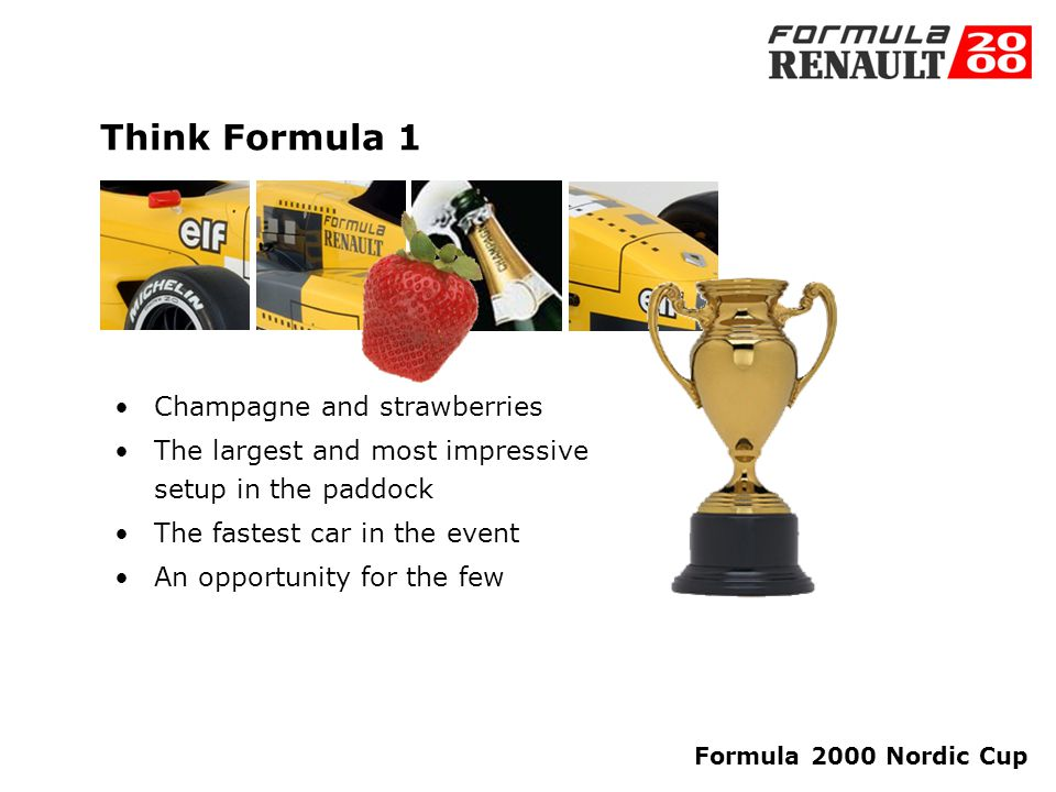 Formula 2000 Nordic Cup Not just oil and engines we focus on the experience at all levels You will have a great time!