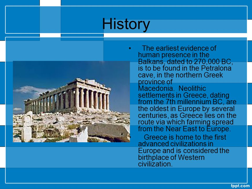 Geography Greece consists of a mountainous, peninsular mainland jutting out into the sea at the southern end of the Balkans, ending at the Peloponnese peninsula (separated from the mainland by the canal of the Isthmus of Corinth).