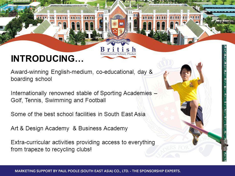 Award-winning English-medium, co-educational, day & boarding school Internationally renowned stable of Sporting Academies – Golf, Tennis, Swimming and