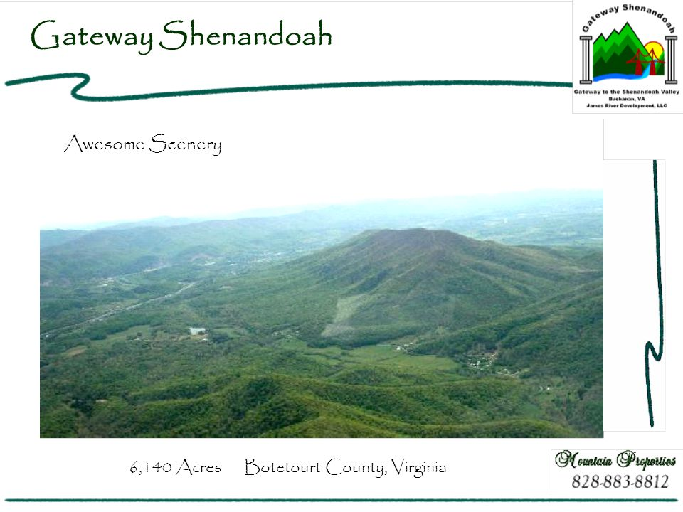 Gateway Shenandoah Awesome Scenery 6,140 Acres Botetourt County, Virginia