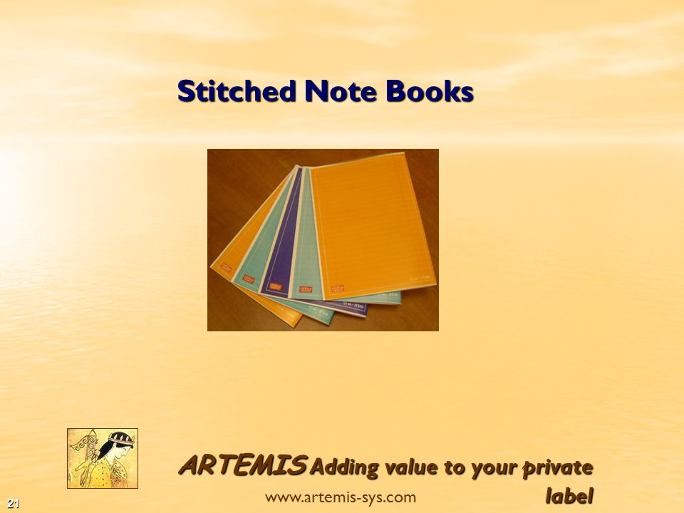 ARTEMIS Adding value to your private label www.artemis-sys.com 20 Spiral Exercise Books