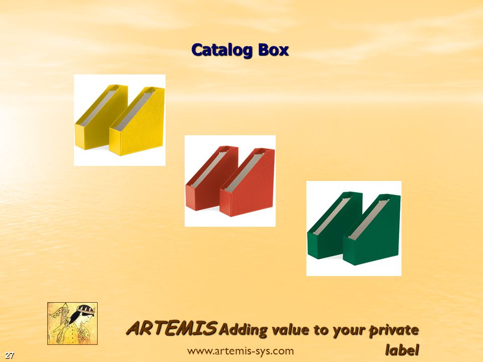 ARTEMIS Adding value to your private label www.artemis-sys.com 26 Lever Arch Files Ring Binders Clip Boards