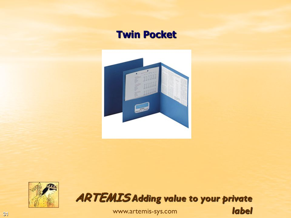 ARTEMIS Adding value to your private label www.artemis-sys.com 30 Project Bags