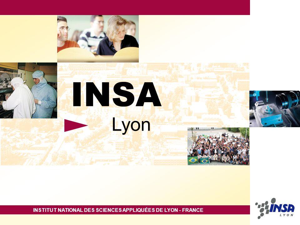 INSTITUT NATIONAL DES SCIENCES APPLIQUÉES DE LYON - FRANCE INSA Lyon
