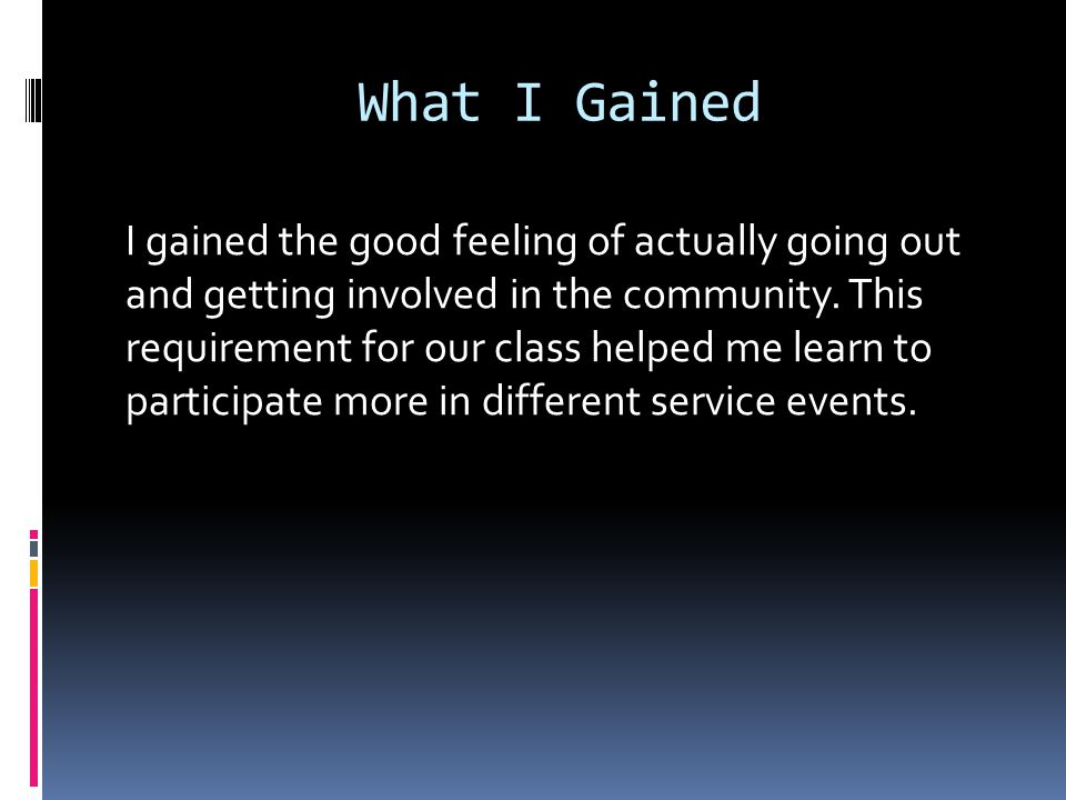 End Of Community Service Power Point