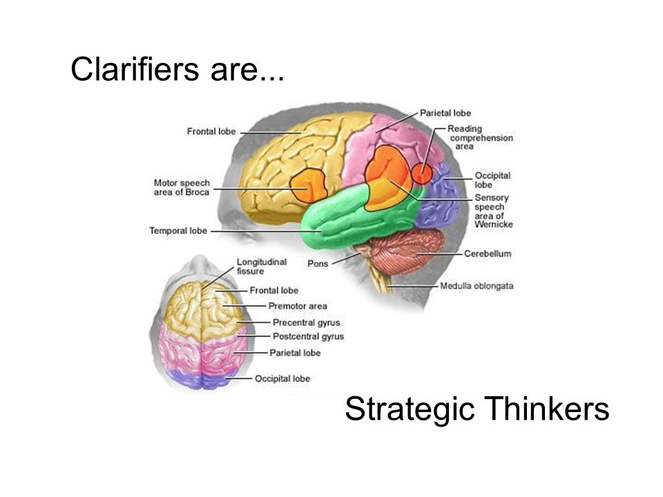 Clarifiers are... Strategic Thinkers