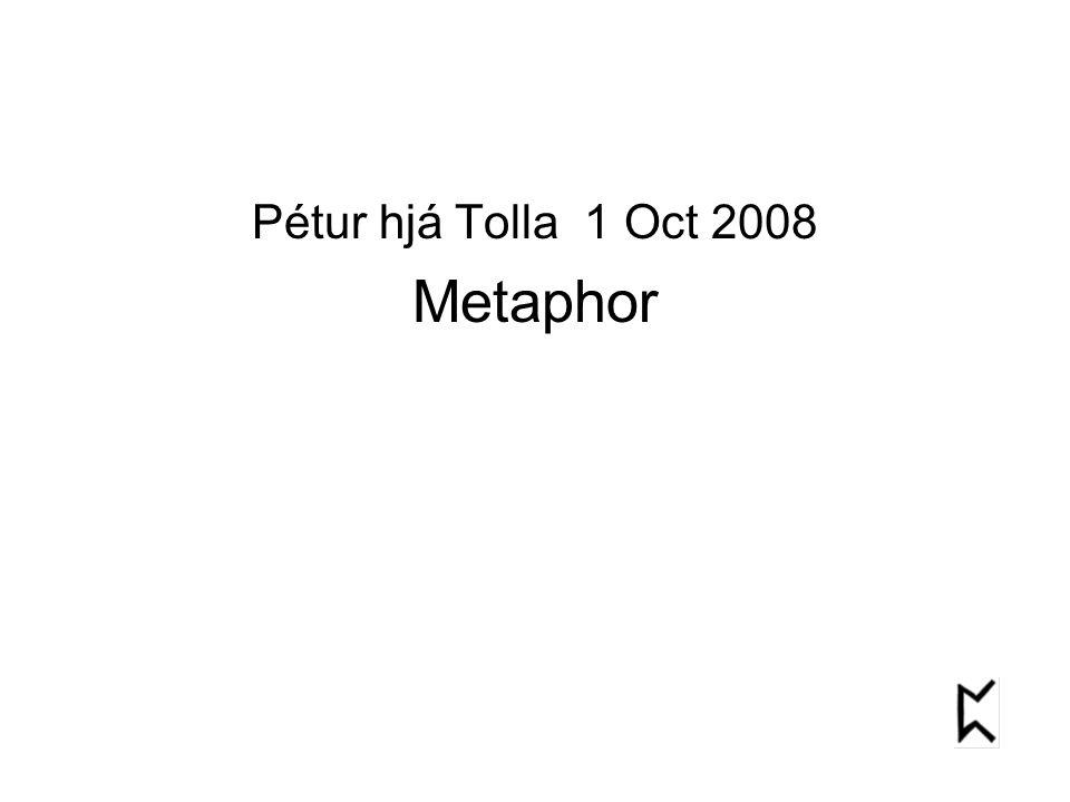 Pétur hjá Tolla 1 Oct 2008 Metaphor