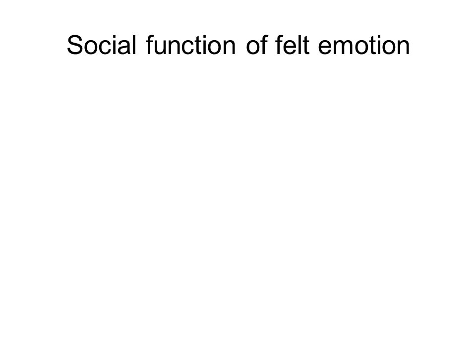 Social function of felt emotion