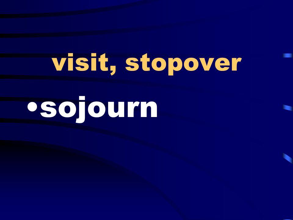 visit, stopover sojourn