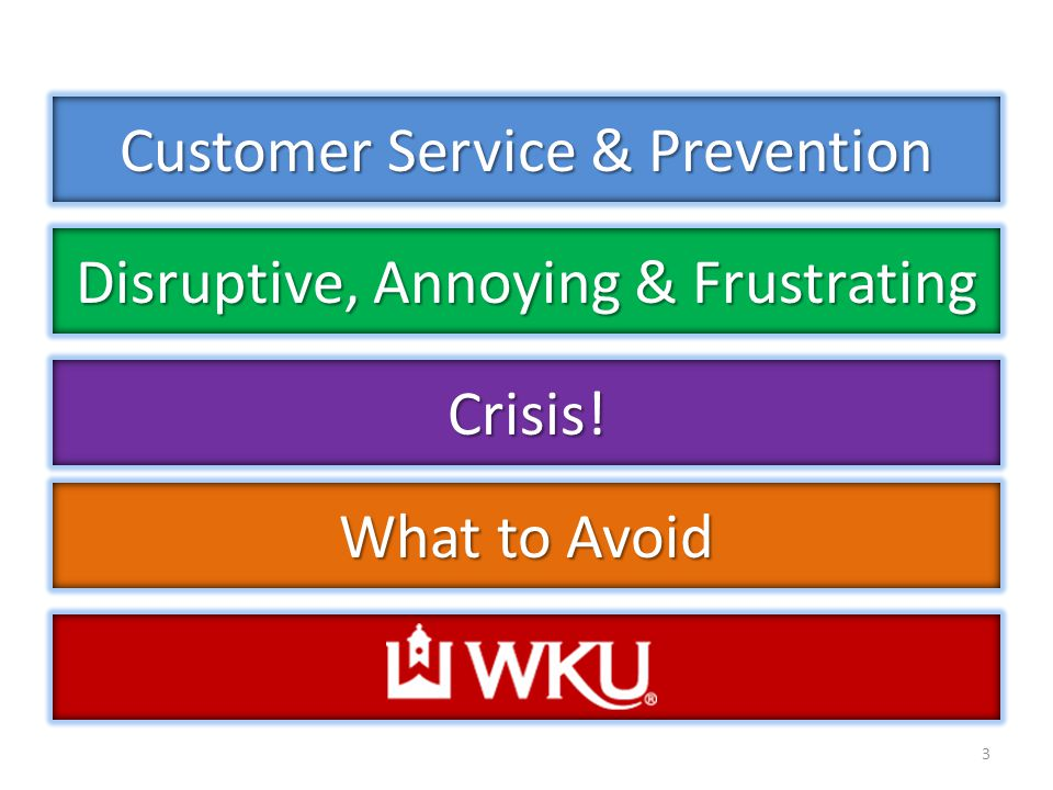 Customer Service & Prevention 3 Disruptive, Annoying & Frustrating Crisis! What to Avoid