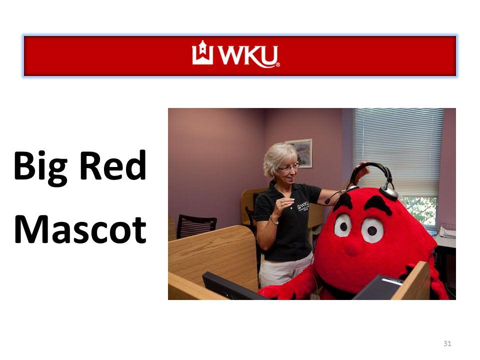 31 Big Red Mascot