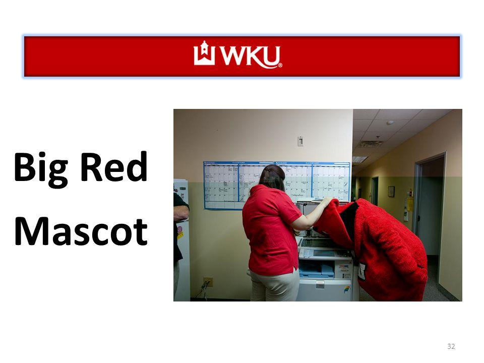 32 Big Red Mascot