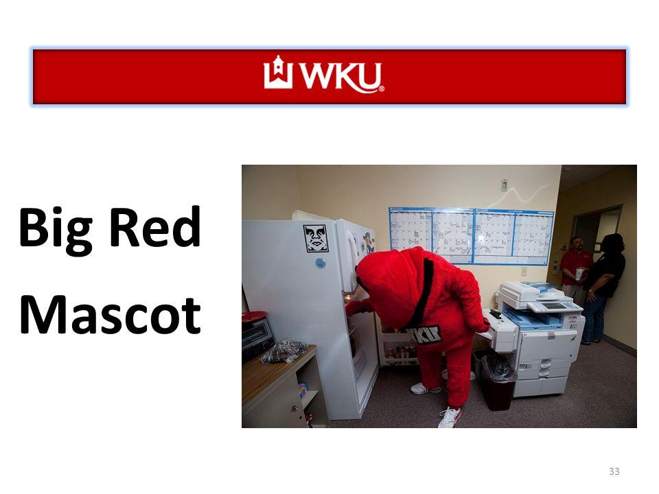 33 Big Red Mascot