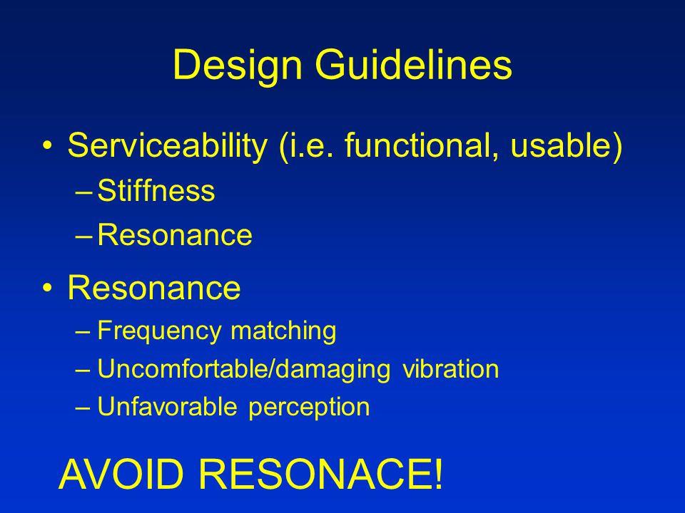 Design Guidelines Serviceability (i.e.