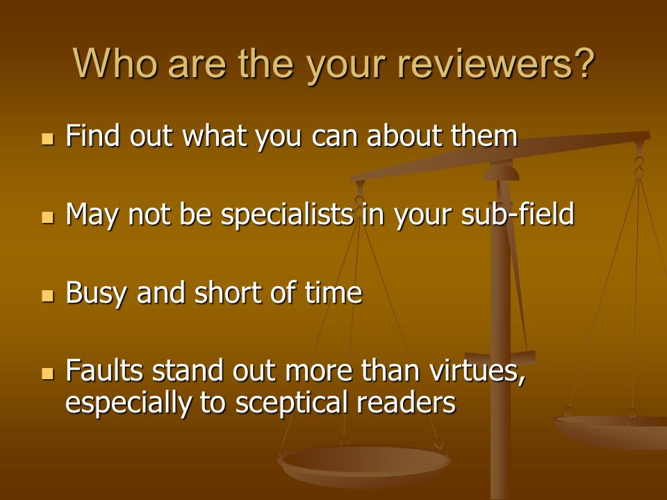 Who are the your reviewers.