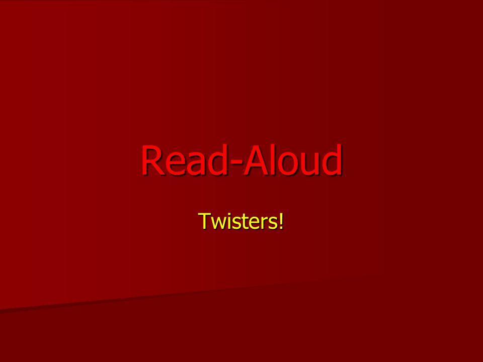Twisters! Read-Aloud