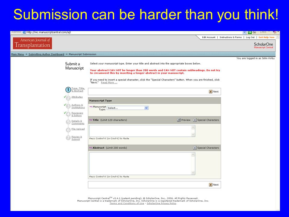 Submission can be harder than you think!