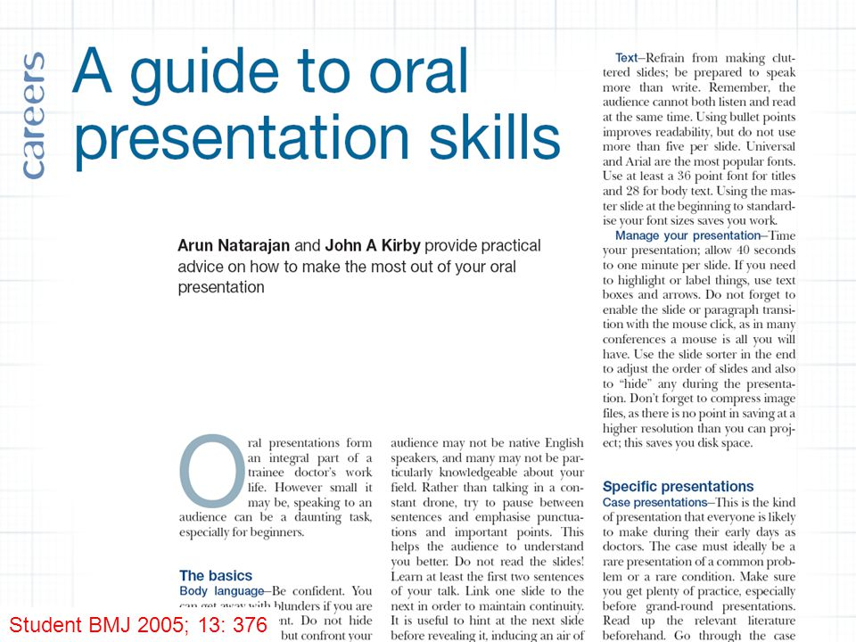 Student BMJ 2005; 13: 376