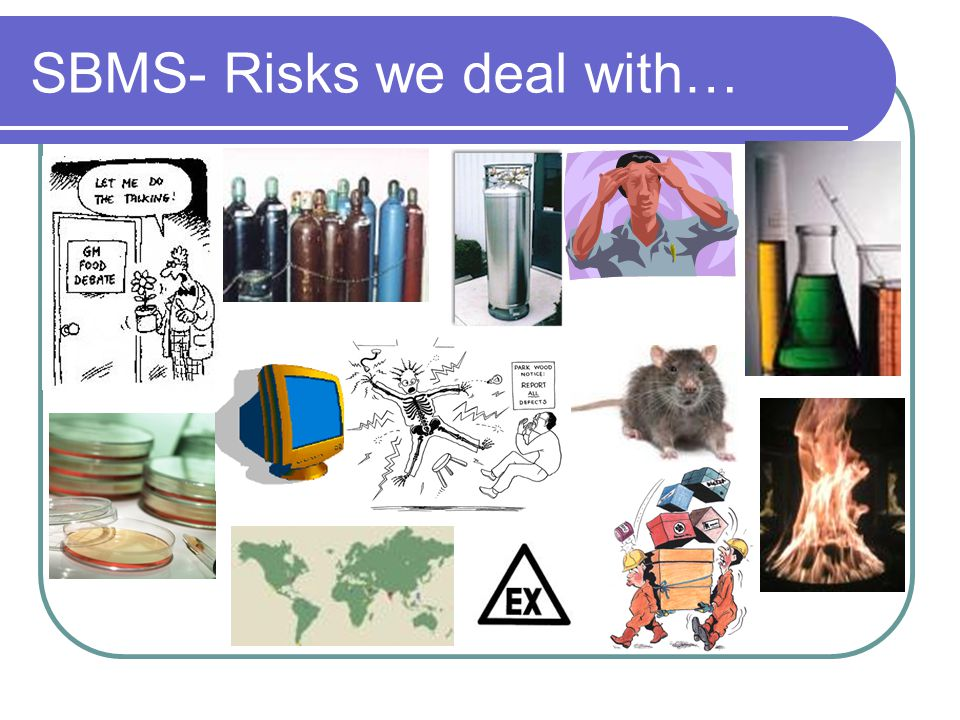 SBMS- Risks we deal with…