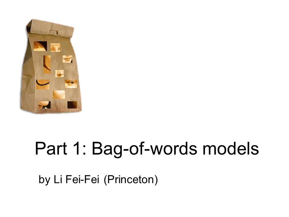 Zebra Non-zebra Decision boundary Discriminative methods based on 'bag of words' representation