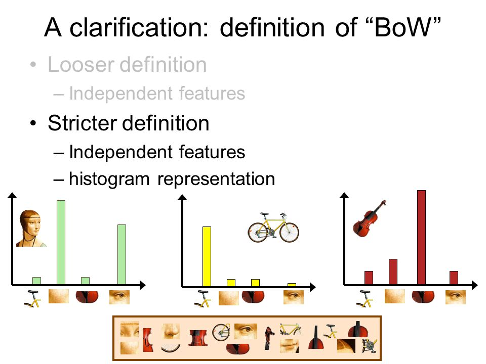 categorydecisionlearning feature detection & representation codewords dictionary image representation category models (and/or) classifiers recognition