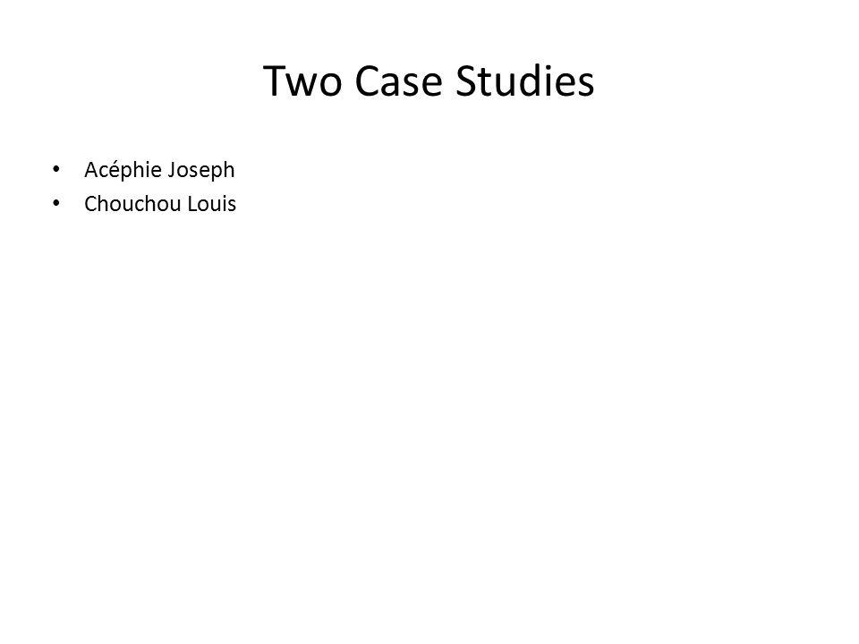 Two Case Studies Acéphie Joseph Chouchou Louis