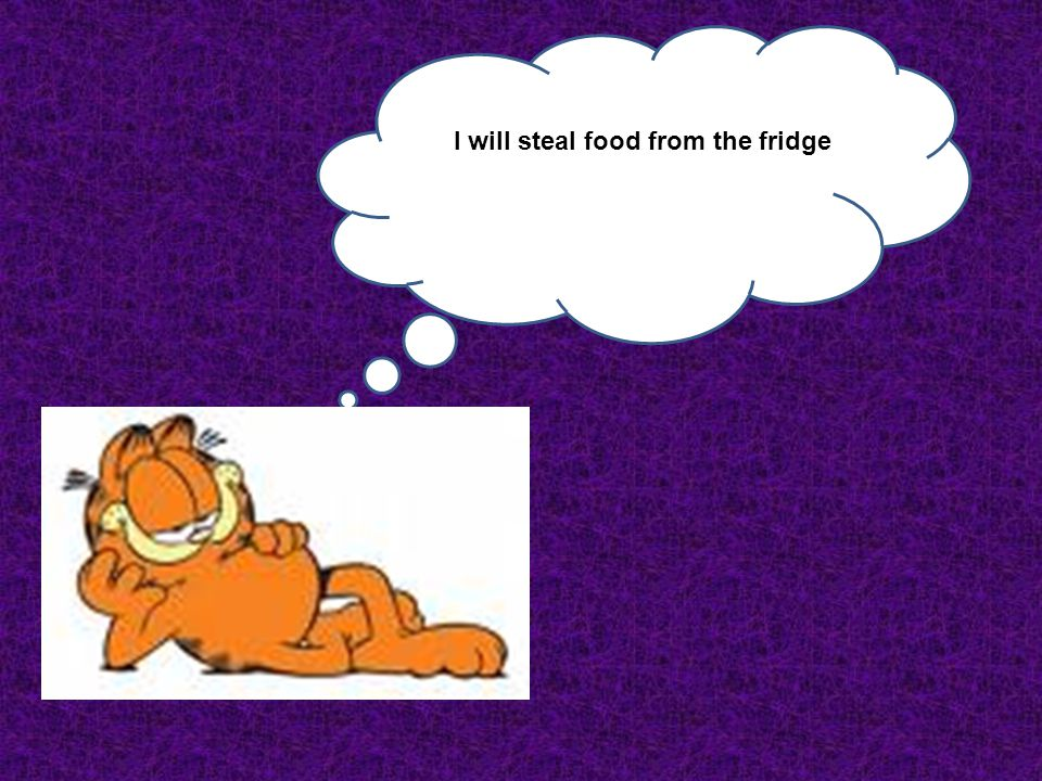 I will steal food from the fridge