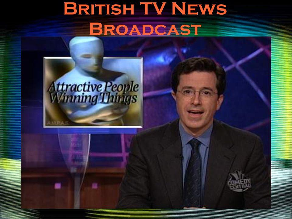 British TV News Broadcast