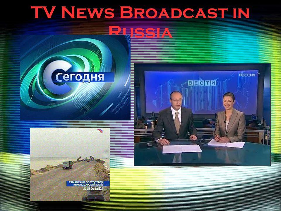 TV News Broadcast in Russia